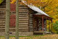 Almelund log cabin, autumn Royalty Free Stock Photo