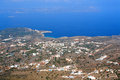Almirida plaka beach chania crete greece aerial view of Royalty Free Stock Photo