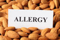 Almond allergy nut closeup Royalty Free Stock Image