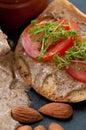 Almond Butter Sandwich Stock Photos