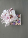 Almond candies in a box Royalty Free Stock Photo