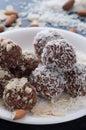 Almond/Coconut Cocoa Balls Royalty Free Stock Photo