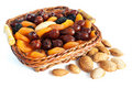 Almond and dry fruits Stock Photography