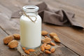 Almond milk Royalty Free Stock Photo