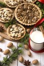 Almond and nut tarts Royalty Free Stock Photo
