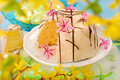 Almond ring cake for easter Royalty Free Stock Photo