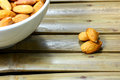 Almonds background Royalty Free Stock Photos