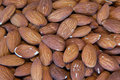 Almonds close up picture of Royalty Free Stock Images