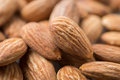 Almonds close up pile of Royalty Free Stock Photo