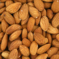 Almonds closeup detail Stock Photos