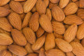 Almonds closeup photo of brown Royalty Free Stock Image