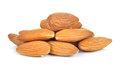 Almonds nuts isolated on white background Royalty Free Stock Photo