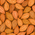 Almonds seamless background Royalty Free Stock Photos