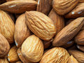 Almonds tasty in the kitchen ready to use Royalty Free Stock Images