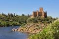 Almourol castle templar of portugal Stock Photo