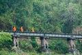 alms on  railroad tracks Royalty Free Stock Photo