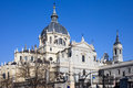 Almudena Cathedral in Madrid Stock Photography