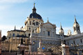 The Almudena Cathedral in Madrid Stock Photo