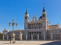 Almudena Cathedral at Madrid Spain Stock Photo