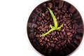 Aloe grows in coffee beans Royalty Free Stock Photography