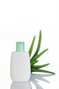Aloe Vera moisturizer Royalty Free Stock Photo