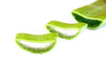 Aloe vera slices isolated on white Stock Image