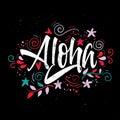 Aloha print for T-shirt