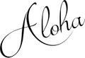 Aloha text sign illustration