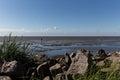 Alone at the mud flats walking and enjoy peaceful solitude north sea coast Stock Photography