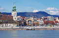 Along Danube River in Budapest Royalty Free Stock Photo