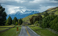 Along the road in south island New Zealand. Royalty Free Stock Image