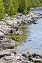 Along the rocky coast of Georgian Bay Stock Photo