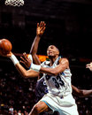 Alonzo mourning charlotte hornets center image taken from color negative Stock Photo