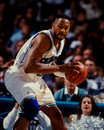 Alonzo mourning charlotte hornets center image taken from color negative Royalty Free Stock Photo