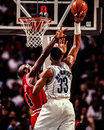 Alonzo mourning charlotte hornets center image taken from color negative Royalty Free Stock Photos