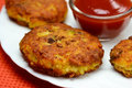 Aloo tikki chat Royalty Free Stock Image