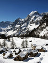 Alpe devero in winter Royalty Free Stock Photo