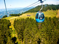 Alpe di siusi cablecar im summer elevated view italy Royalty Free Stock Photos