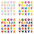 Alphabet, 4 Color Palettes Royalty Free Stock Photos