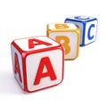 Alphabet ABC cubes Royalty Free Stock Photo
