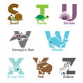 Alphabet animals Stock Photo