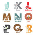 Alphabet animals Royalty Free Stock Images