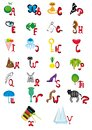 Alphabet animated anglais Photos libres de droits