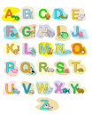 Alphabet baby animals ABC children color poster