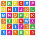 Alphabet Baby Blocks Stock Images