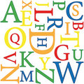 Alphabet background Royalty Free Stock Photos