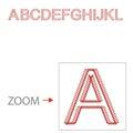 Alphabet baseball style illustration part Royalty Free Stock Photography