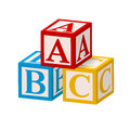 Alphabet block abc isolated on white background Royalty Free Stock Images