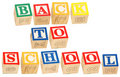 Alphabet Blocks Back To School Royalty Free Stock Photos
