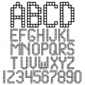 Alphabet blocks frame square and numbers Royalty Free Stock Photos